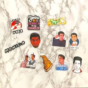 Monica sticker + 10 stickers